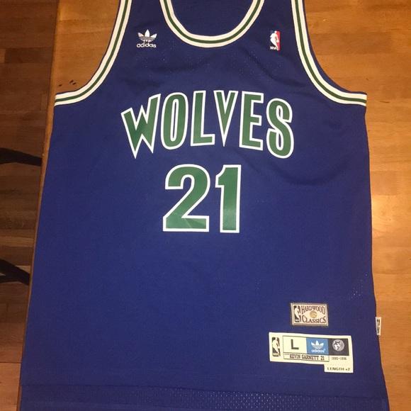 the best attitude 442ef 3b373 Kevin Garnett 1995-1996 Timberwolves Jersey